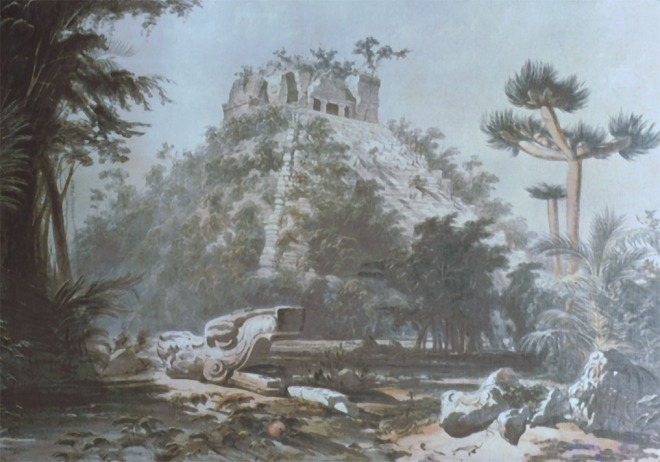 Chichen_Itza_Castillo_Frederick Catherwood_1843_drawing